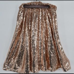 Society Plus Rose Gold sequin Midi Skirt sz 18/20